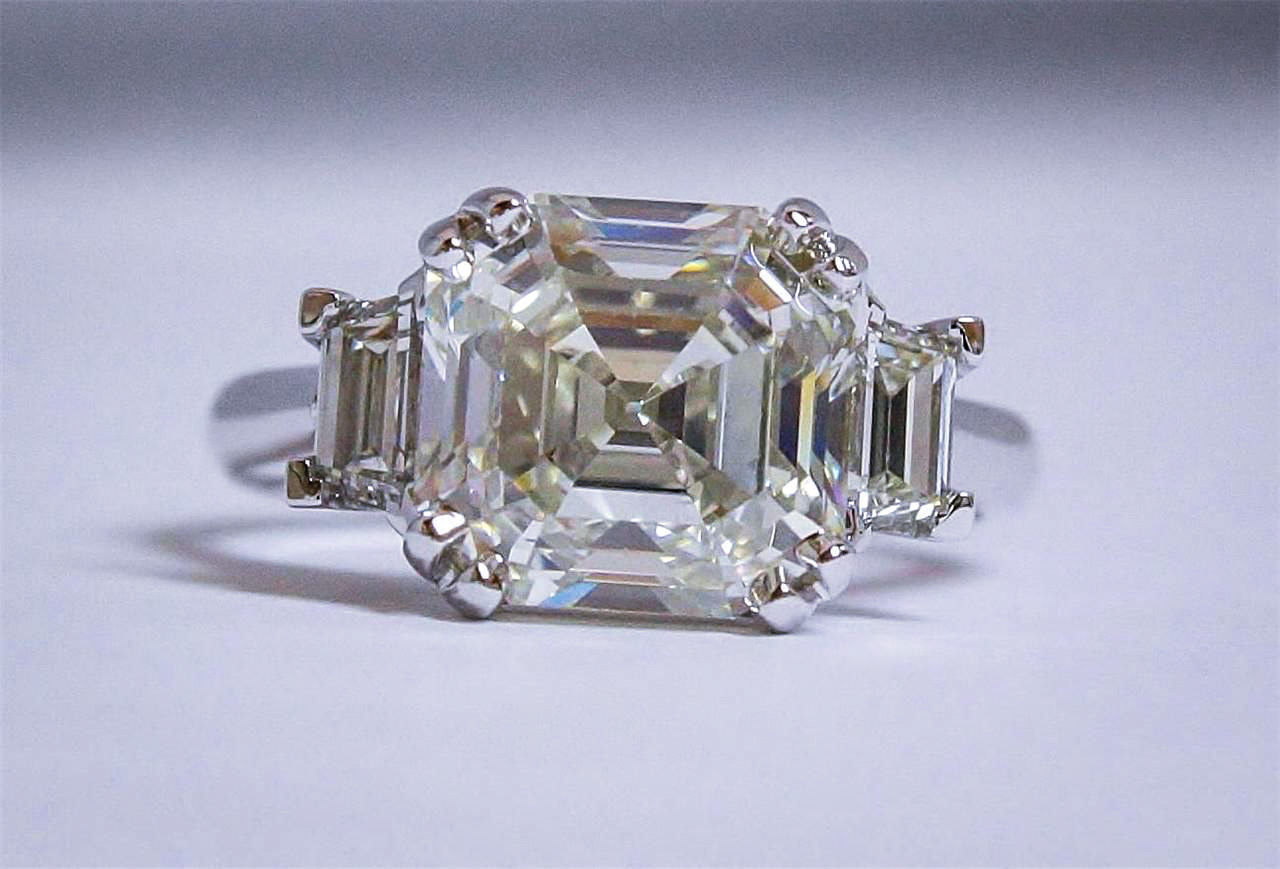 5 Carat Asscher Cut Diamond Ring